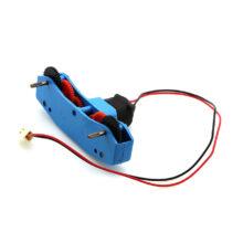 موتور گیربکس دار پلاستیکی مبتدی ۶ ولت دو شفت A با کانکتور مخابراتی
