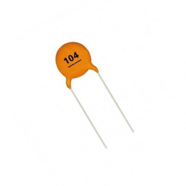 خازن عدسی 104 (100nF)
