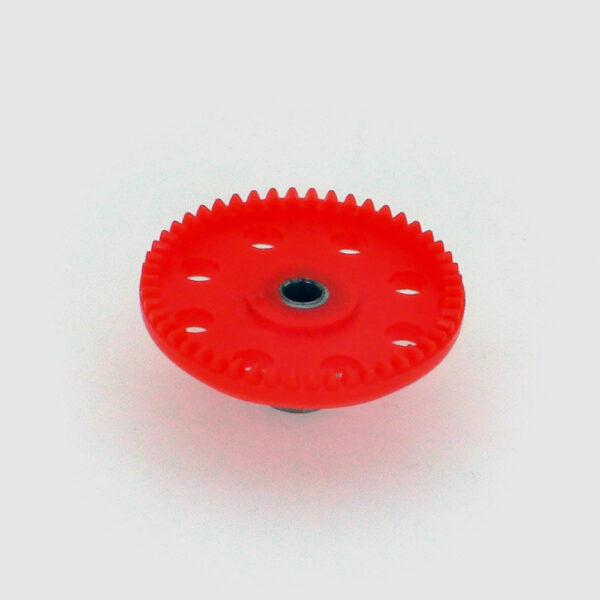 چرخ دنده تاجی پلاستیکی 50 دنده شفت فلزی 4میلی متر