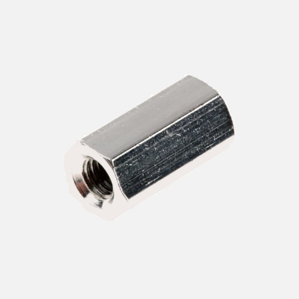 اسپیسر چند ضلعی دو طرف رزوه فلزی 6 گوش FM 10mm جنس برنج و آلیاژ مس دو سر مادگی