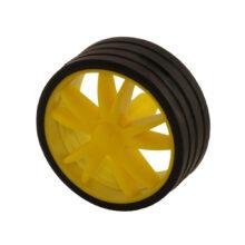 رینگ و لاستیک چرخ ۲.۳×۵.۵×۰.۵ (شفت دو سر تخت)