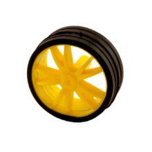 رینگ و لاستیک چرخ ۲.۳×۵.۵×۰.۲۵ (شفت گرد ۲.۵)