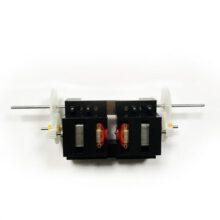 موتور گیربکس دار پلاستیکی مبتدی ۶ ولت با ۲ شفت قطر ۲mm