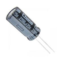 خازن الکترولیت ۲۲۰۰میکرو فاراد ۲۵ ولت
