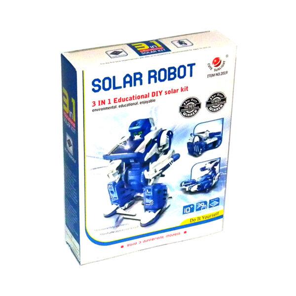 بسته سرگرمی آموزشی ربات خورشیدی 3×1 آدم آهنی