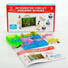 بسته آموزش مدارهای الکترونیک ، بلوک پازل ۳۴ قطعه ۱۱۵ پروژه