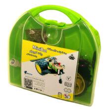 بسته آموزشی ربات کوچولو-MiniBot بدون لحیم کاری با باتری کتابی معمولی