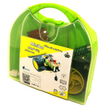 بسته آموزشی ربات کوچولو-MiniBot با لحیم کاری با باتری کتابی آلکالاین