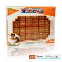 بلوک کمکی رنگی بسته های آموزشی YSGO با LED سفید مدل ۲×۲