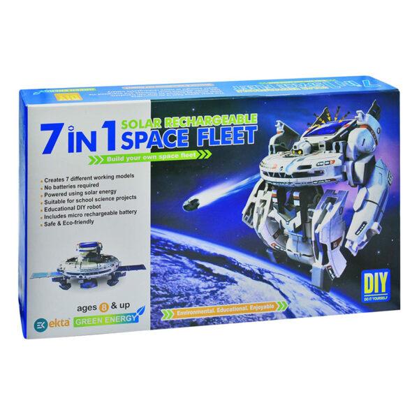 بسته سرگرمی آموزشی ربات خورشیدی 7×1 ناوگان فضایی